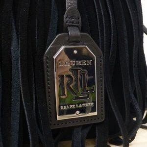 4ff05282ce Ralph Lauren Bags - Ralph Lauren Barton Suede Emery Fringe Tote Black